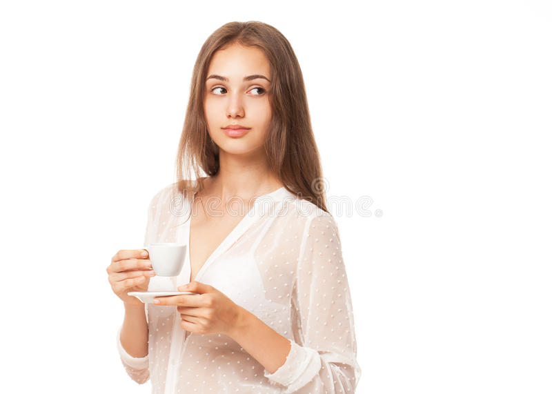 Брюнет эспрессо стоковое фото