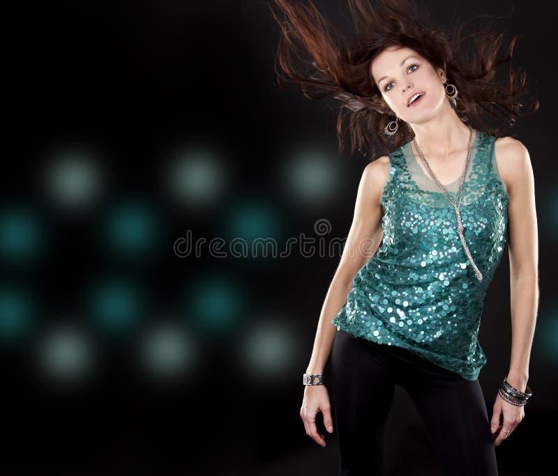 брюнет clubwear стоковые изображения rf