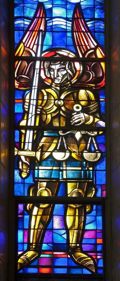 Брюссель - Archangel Майкл от национального Basi стоковые изображения