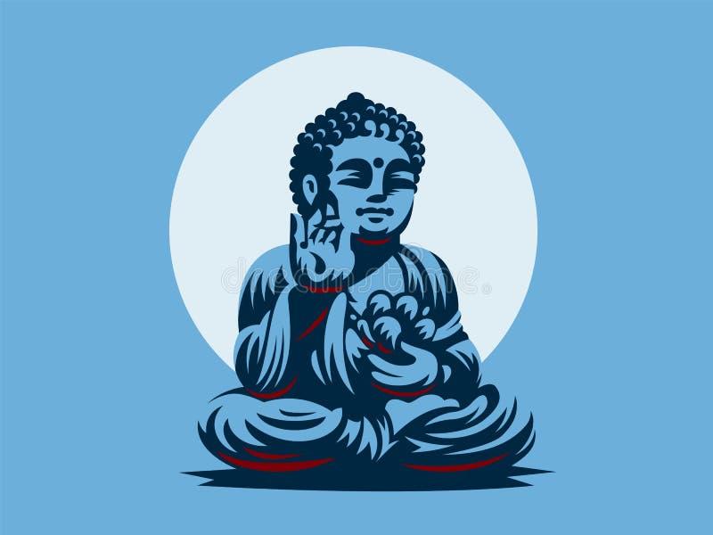 Будда белизна вектора 8 эмблем изолированная eps иллюстрация вектора