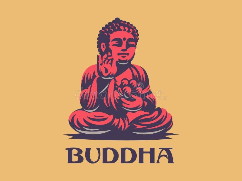 Будда белизна вектора 8 эмблем изолированная eps иллюстрация штока