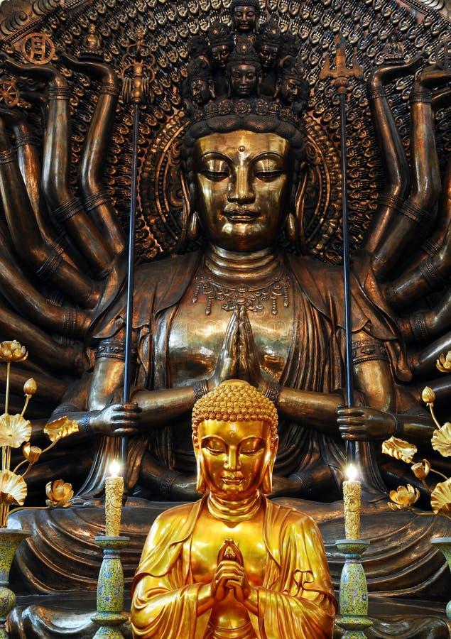 Будда вручает тысячу стоковые фотографии rf