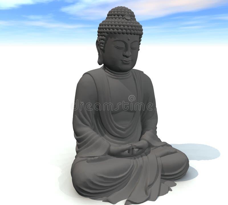 Будда габаритные 3 иллюстрация штока