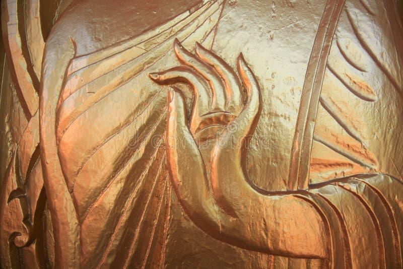 Будда детализировал скульптуру орнамента руки одобренную стоковое изображение