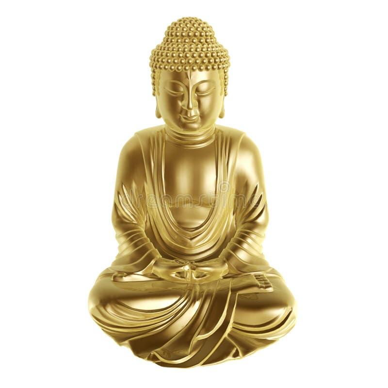 Будда золотистый иллюстрация штока