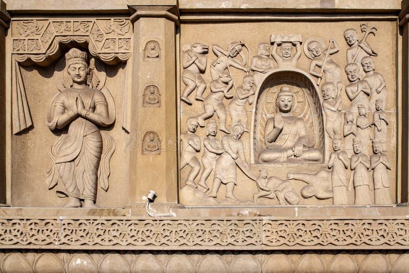 Будда на гротах Yungang, Datong, Шаньси Китай стоковые изображения