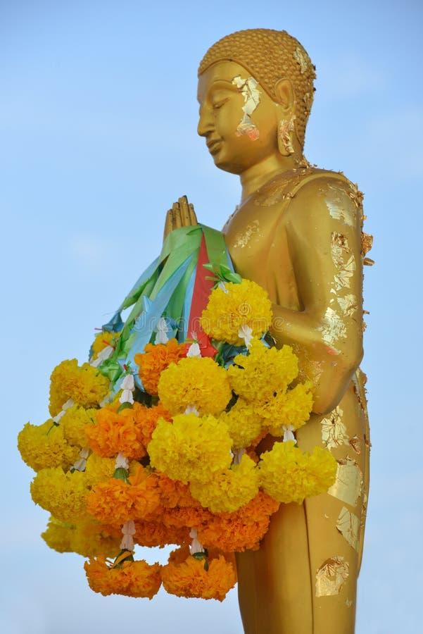 Будда с фильмами золота вставить на ем стоковая фотография rf