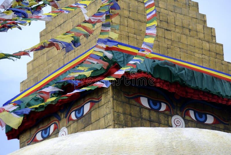 Будда eyes премудрость стоковое фото