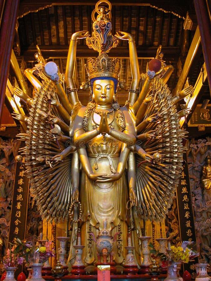 Будда eyes руки тысяча стоковая фотография