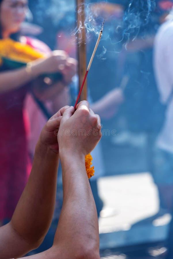 буддийская молитва стоковая фотография