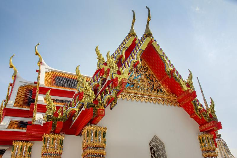 Буддийские виски в Бангкоке, Таиланде стоковое изображение