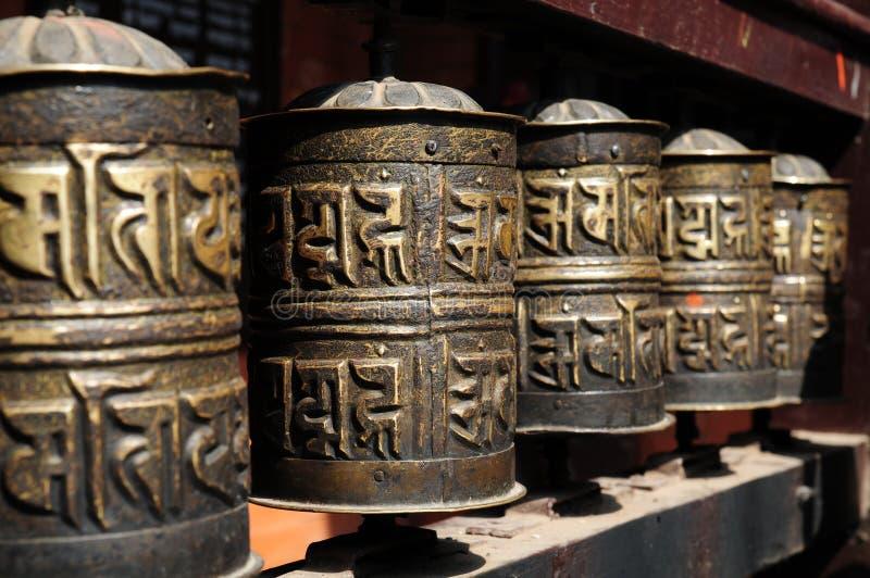буддийские колеса молитве стоковое изображение rf