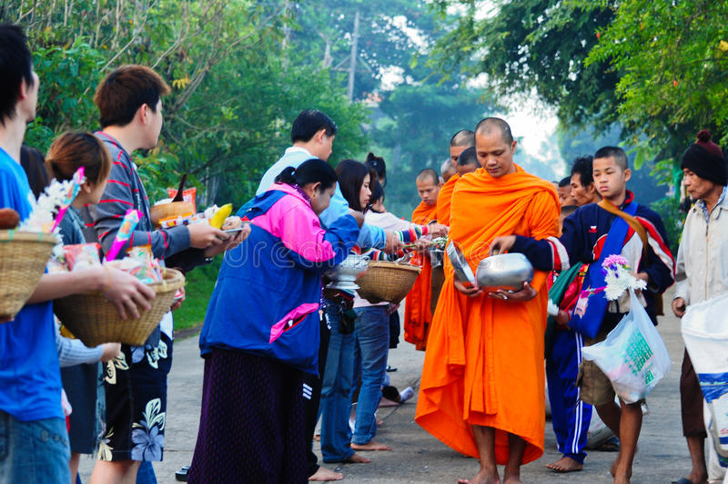 буддийские монахи Таиланд стоковое фото