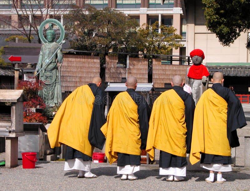 буддийские монахи Редакционное Изображение
