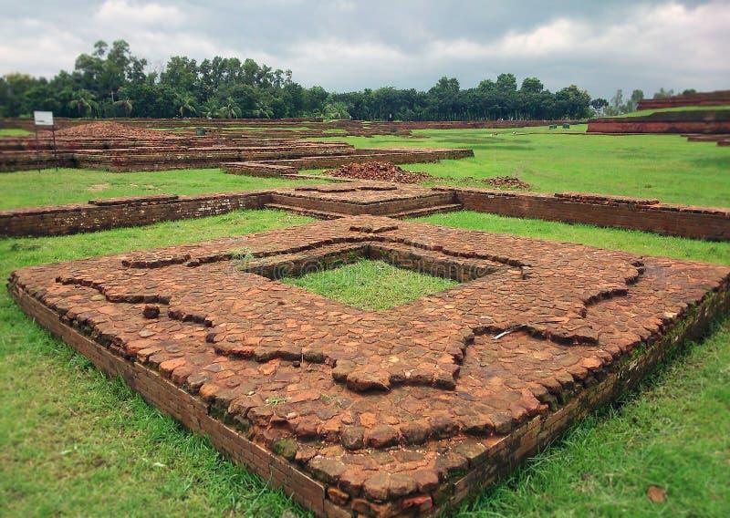 Буддийский Бихар на всемирном наследии Бангладеша стоковые фото