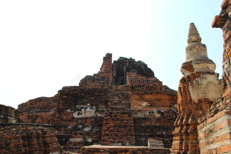 Буддийский висок в Ayutthaya, Бангкоке Таиланде стоковая фотография rf
