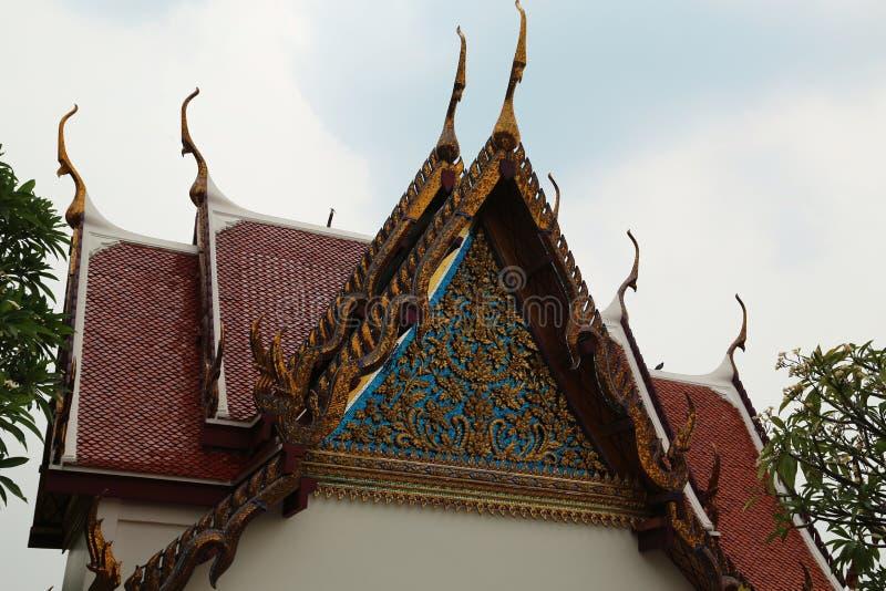 Буддийский висок на Золотой Горе или Wat Saket в Бангкоке, Таиланде стоковое фото