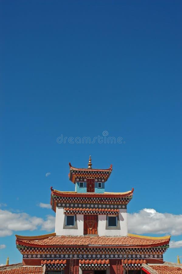 буддийский висок Тибет Стоковые Фотографии RF