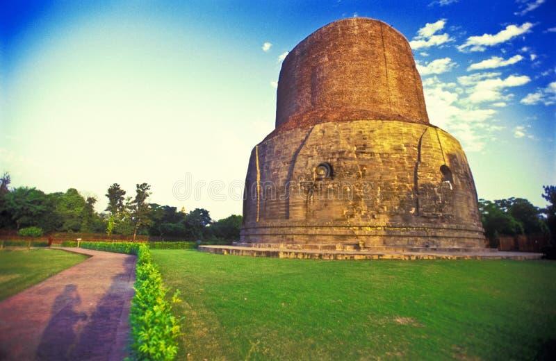 буддийский висок stupa sarnath стоковые фото