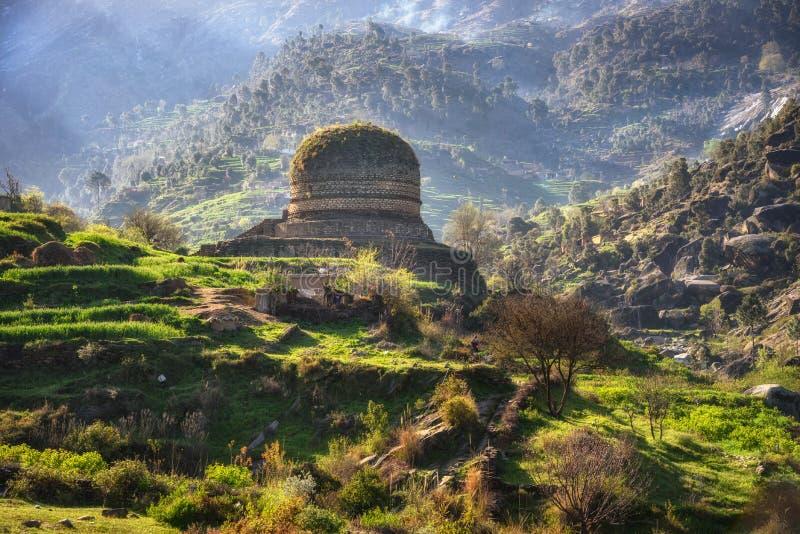 Буддийский монастырь Сват Пакистан стоковые изображения