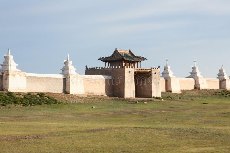 Буддийский монастырь Erdene Zu стоковые фотографии rf