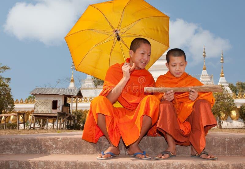 буддийский монах Лаоса стоковые изображения rf