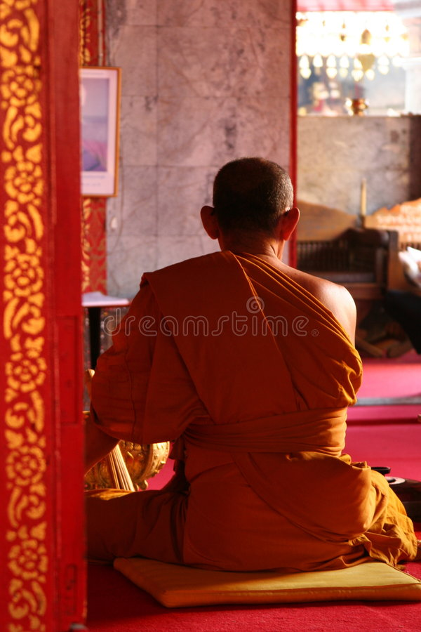 буддийский монах стоковая фотография rf