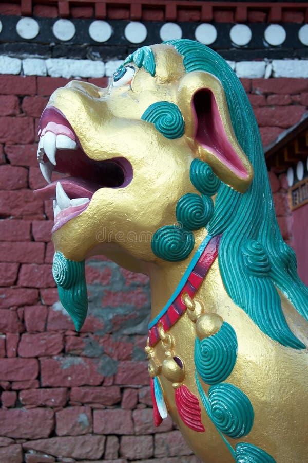 буддийский скит Непал льва строба стоковая фотография