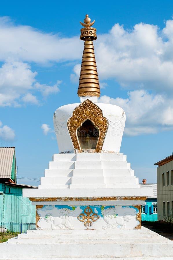Буддийское stupa пагоды, Ivolginsky datsan стоковые изображения rf