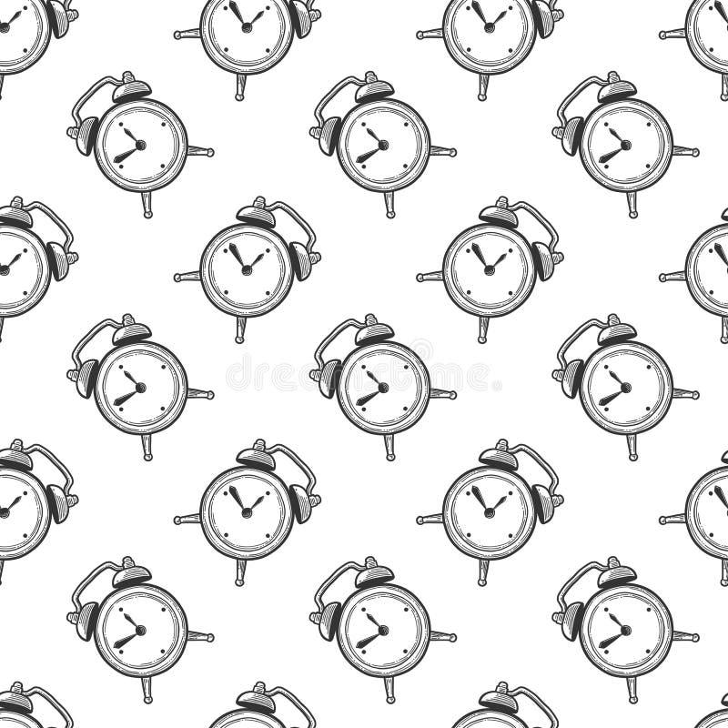 Будильник, сетноые-аналогов дозоры Вектор в стиле doodle и эскиза бесплатная иллюстрация