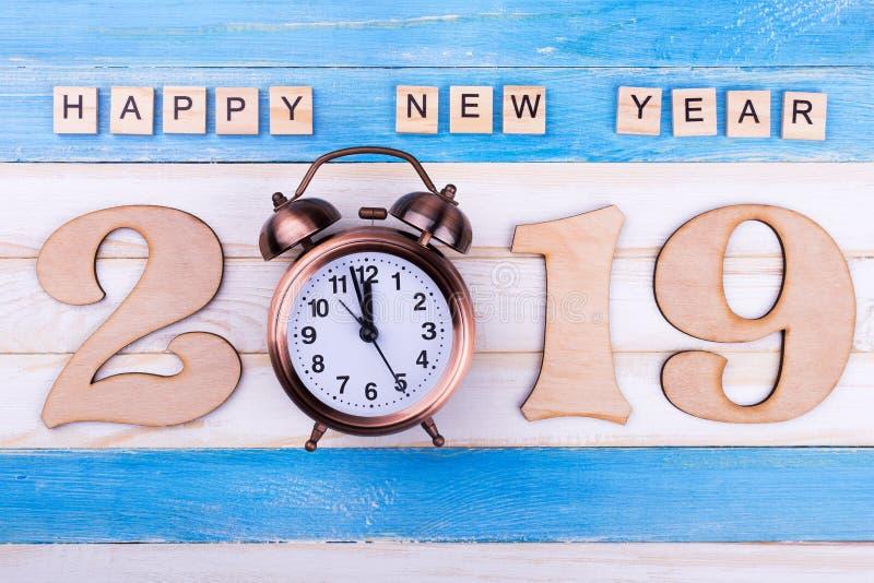 2019, будильник, С Новым Годом! стоковые фото