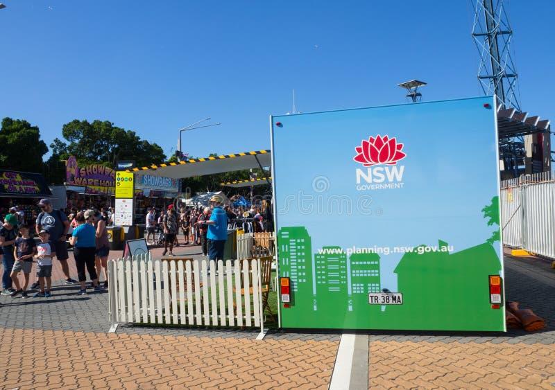 Будочка выставки отдела планирования и окружающей среды NSW на шоу Сиднея пасхи стоковые изображения