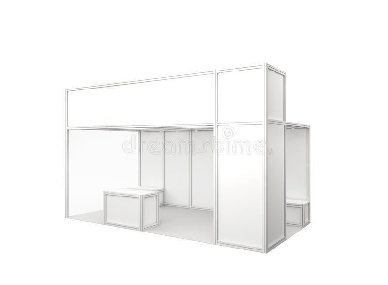 Будочка торговой выставки 3d представляют стоковые фото