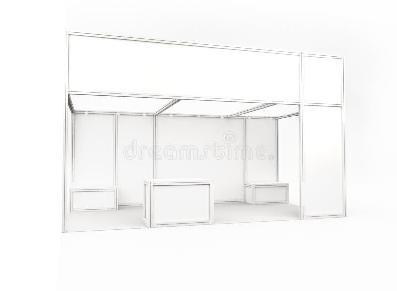 Будочка торговой выставки 3d представляют стоковые изображения rf