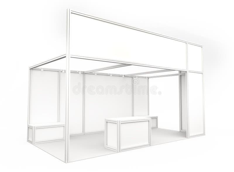 Будочка торговой выставки 3d представляют стоковое изображение