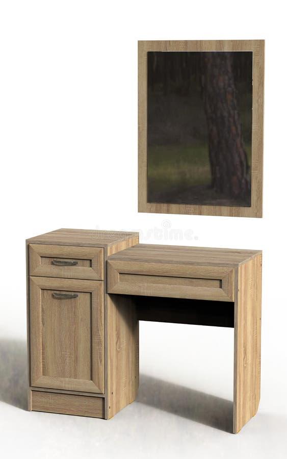 Будуар таблицы с зеркалом 1 стоковое изображение rf