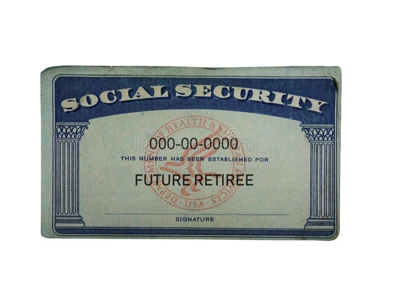 Будущая карточка социального обеспечения пенсионера стоковое фото rf