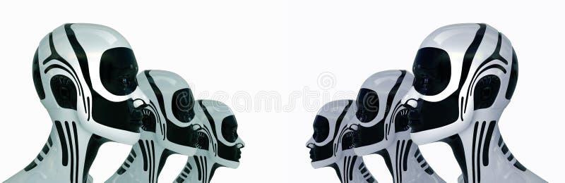 будущее армии робототехническое иллюстрация вектора