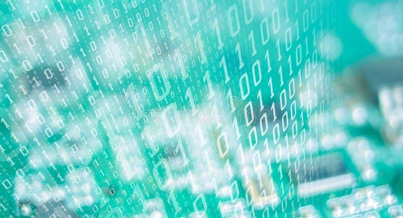 Будущее данных нумерует кибератаку иллюстрация вектора