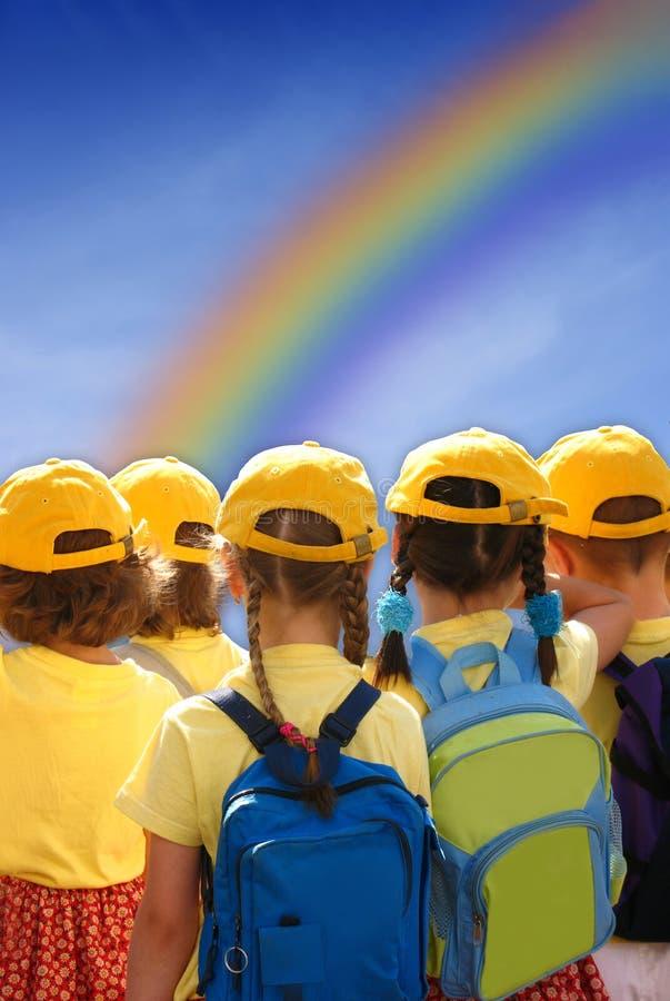 будущее детей совместно стоковые изображения