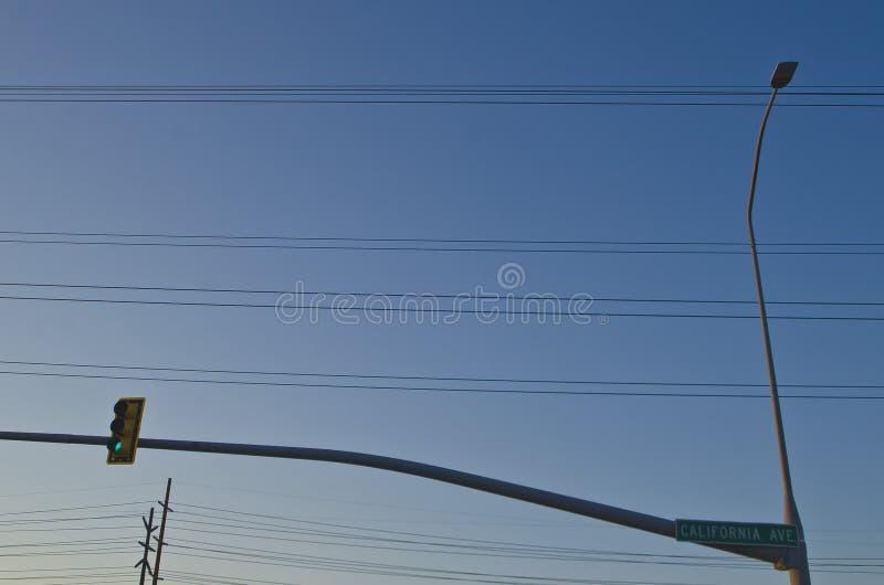 Будущие горизонты улиц Калифорнии ave стоковые фото