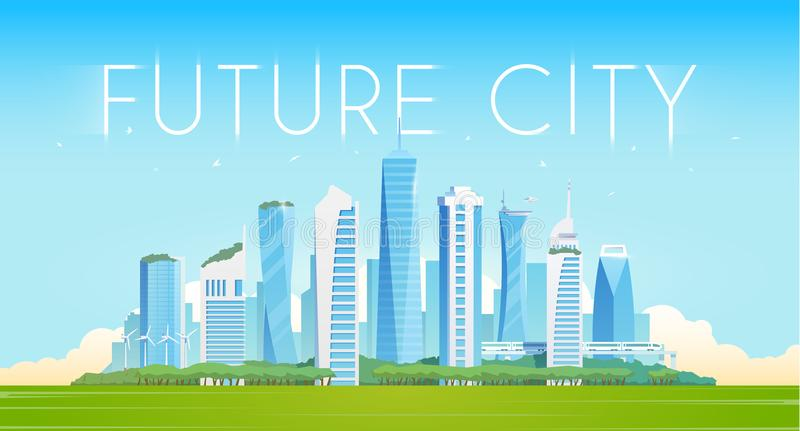 Будущий город иллюстрация штока