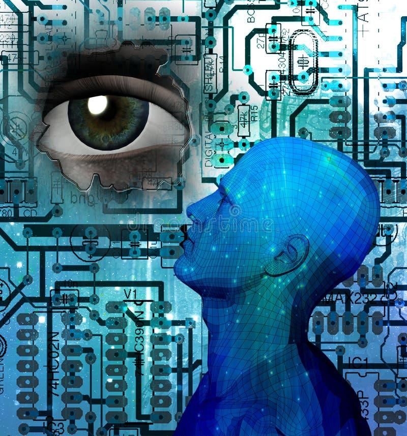 будущий человек иллюстрация вектора