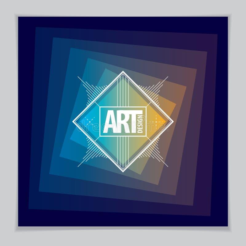 Будущий шаблон геометрического дизайна Абстрактный геометрический вектор План для крышки, плаката, плаката бесплатная иллюстрация