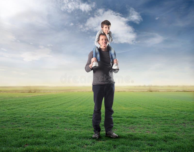 будьте отцом сынка стоковые изображения rf