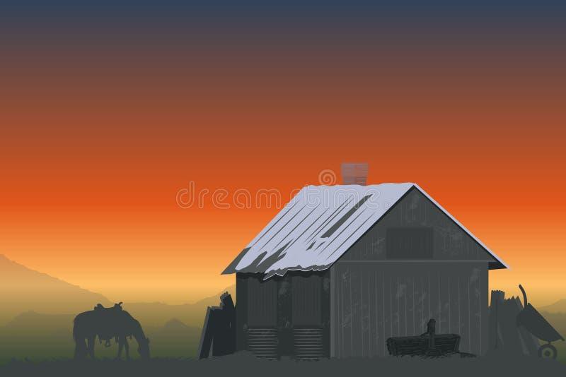 будьте фермером горы иллюстрация штока