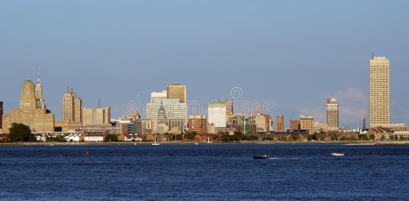 Буйвол, горизонт NY стоковое фото