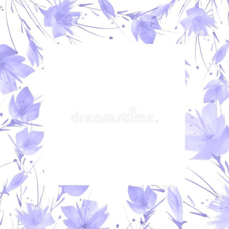 Букет акварели цветков r иллюстрация вектора