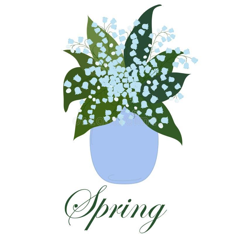 Букет лилий с листьями в вазе на белой предпосылке стоковое изображение