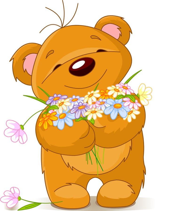 букет медведя давая игрушечный иллюстрация штока